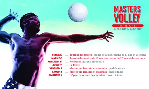 Programme des Masters Volley Pornichet 2019